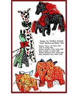 Vintage Pattern for Stuffed Animals * Horse, Elephant & Giraffe - $10.99