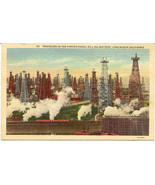 Long Beach The Signal Hill Oil Field Vintage Post Card - $10.00