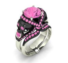 Skull Engagement Ring Cotton Candy Pink 18 k Te... - $3,995.00