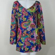 Leg Avenue Size S/M Go Go Mini Hippie Dress Vibrant Print Halloween Costume - $39.56