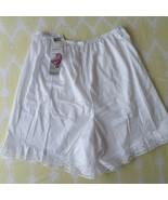 "Vintage Vanity Fair Petti Leg L 18"" White Nylon Lace Modest Glam New Old... - $49.45"
