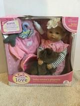 "CUDDLY LOVE BABY EMMA'S PLAYETTE HUGGABLY SOFT LIFE SIZE 18"" DOLL KINGST... - $33.65"