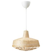 "IKEA INDUSTRIELL Ceiling Pendant Lamp Handmade Natural Bamboo 16"" - $37.99"