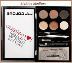 "L.A. Colors ""I Heart Makeup"" BROW PALETTE/KIT with Accessories (Light-Me... - $7.00"