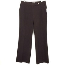 Calvin Klein Women's Classic Fit Lined Dress Slacks Pants 8 x 33 Heather Brown - $24.74