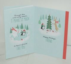 Hallmark XZH 144 4 Snowman Penguin Friends Christmas Card Quad Fold Package 4 image 3