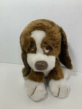 Russ Berrie Baxter Basset Hound vintage plush puppy dog brown white 872 - $6.92