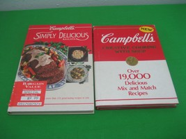 2 Cookbooks CAMPBELLS DELICIOUS RECIPES Creative Cooking with Soup Hardc... - $9.85