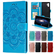 Retro Pattern Wallet Case Shockproof Card Cover For Samsung Galaxy Note 10 Plus - $62.80