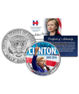 HILLARY CLINTON 1st Woman US President Nominee 2016 Kennedy JFK Half Dol... - $8.86