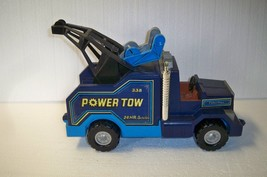 Vintage Fisher Price Husky Helper Blue Power Tow Truck 1982 - $19.34
