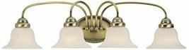 Livex Lighting 1534-01 Edgemont 4 Light Bath Vanity Fixture Antique Brass - $129.99