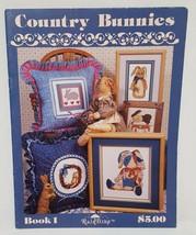 Country Bunnies Rabbits Cross Stitch Leaflet Stoney Creek 1989 RainDrop  - $14.99