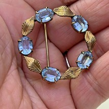 WRF 1/20 12K Gold Filled  Aquamarine Vintage Brooch Pin #2 - $38.60