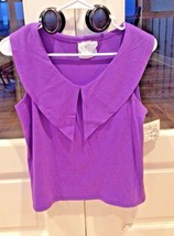 Purple Top Solid New w tag Womens Small Short Shirt Sleeveless Mass Hyst... - $7.99