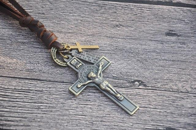 COOSTUFF Punk Religious Jesus Cross Necklace / Pendant - Ladies / Women's