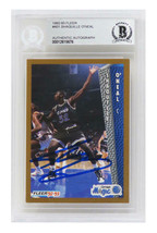 Shaquille O'Neal Signed Orlando Magic 1992-93 Fleer Rookie #401 - Becket... - $395.01