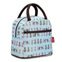 Fashion Zipper Lunch Bag Picnic Box For Women Tote Handbag Pattern Puppy... - $10.69