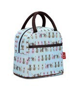 Fashion Zipper Lunch Bag Picnic Box For Women Tote Handbag Pattern Puppy... - £8.36 GBP