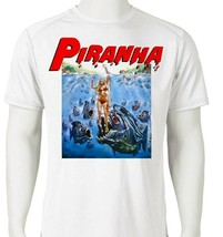 Piranha Dri Fit graphic T-shirt retro 80s sci fi horror movie SPF sun shirt image 1