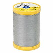 COATS & CLARK Thread GRAY IVORY  3 SPOOLS 100% Cotton 225 yards each 30 wt - $8.42