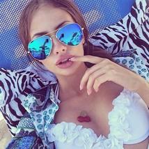 Polarizados Retro Gafas de Sol Aviator Hombre Mujer Lente Espejada - $9.98