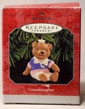 Hallmark: Granddaughter - Teddy Bear - 1998 Holiday Ornament - $9.67