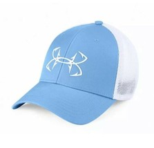 Under Armour Fish Hunter Trucker Hat in Carolina Blue Stretch Fit OSFA M/L - $19.31