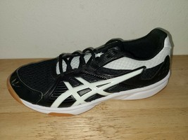 Asics Gel Upcourt 3 Black White Volleyball Shoes Women's Size 9.5 1072A031 - $34.64