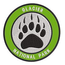 """Explore Glacier National Park - Bear Claw - 3.5"""" Embroidered Iron or Sew-on Patc - $4.92"""