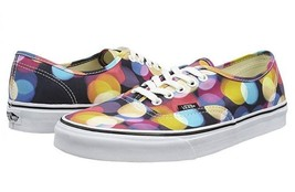 VANS Flashing Lights Circles Dots Low Ox Canvas Fashion Sneakers NEW Unisex - $64.99