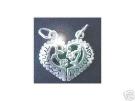 NICE 2001 Silver Mother Daughter Bond Love split charm rose - $18.16