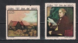 Cuba 1969 Cuban Stamp Day  (MNH)  - Painting, Stamp day  - $3.10