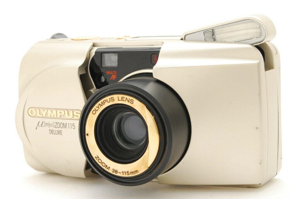 [Eccellente Olympus Μ Mju Zoom 115 Deluxe 35mm Film Fotocamera Da Giappone 525 - $62.56