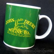 Licensed John Deere Tractor Logo Moline Illinois Coffee Mug Cup Two Side... - $24.03