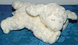 BABY GUND 58133 Toy WINKY White Lamb Sheep Plush Rattle Boy Girl Shower ... - $9.49