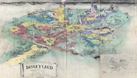 1953 DISNEY ORIGINAL PROSPECTUS SKETCH POSTER | 24 x 36 INCH | DISNEYLAND - $18.99