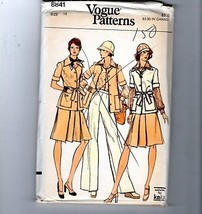 1970s Vogue Sewing Pattern #8841 Safari Wardrobe Skirt Pants Shirt Jacke... - $14.36