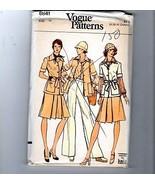 1970s Vogue Sewing Pattern #8841 Safari Wardrobe Skirt Pants Shirt Jacke... - $14.36