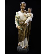 "25.5"" Saint Joseph with Baby Jesus Catholic Statue Religious Gift Made in Italy - $225.81 CAD"