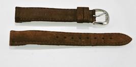 Fossil Damen Braun Wildleder / Leder Ersatz Clips Uhrenarmband 18mm - $9.83