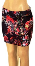 Women's Quilted Floral  Above The Knee Dressy Skirt w/Back Zipper BLACK ... - $13.95