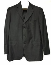 Ermenegildo Zegna Sport Coat Jacket Blazer Gray Wool Size 42 Lined 3 But... - $69.29