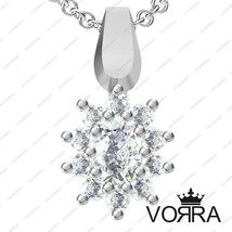 New 925 Sterling Silver Oval Cut White Cubic Zirconia Solitaire Pendant ... - $15.66