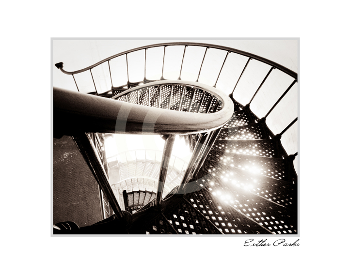 'Lighthouse Winding Stairs' (Florida) Fine Art Print - 8x10 print matted to11x14