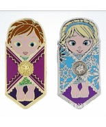 Disney Frozen Baby Anna and Baby Elsa Swaddled in Baby Blankets 2 pin set - $6.85