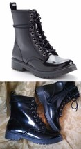 Mudd Womens Shane Combat Boots-Black Patent High Top-Ankle Side Zip 7.5 ... - $39.57