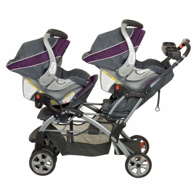double twin stroller travel system with 2 infant car seats other. Black Bedroom Furniture Sets. Home Design Ideas