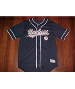 Dynasty MLB AL East New York Yankees Scripted Blue White Logo Baseball J... - $59.39