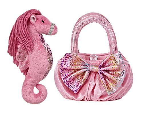 Aurora World Sea Sparkles Plush Pet Carrier, Maris Sea Horse